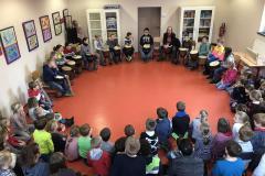 Trommelvorführung der Klasse 4